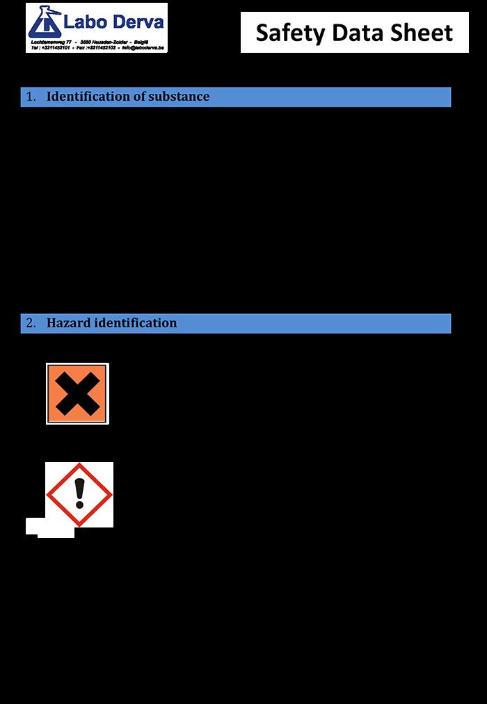 Safety Data Sheets - SanEcoTec